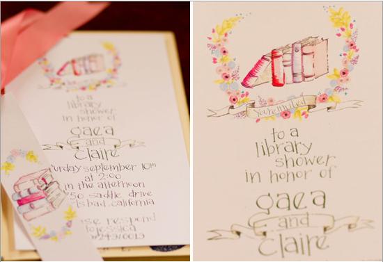 hand lettered invite